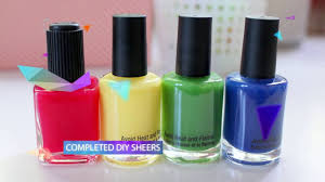 easy diy sheer tint jelly polish u0026 stained glass nails youtube
