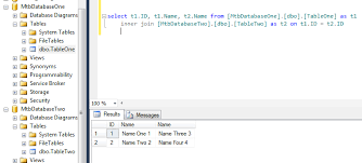 how to join tables in sql sql server joining tables from different databases on the same