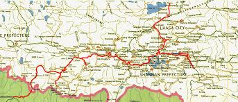Map Of Nepal And Tibet by Travelogue Tibet