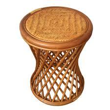 round stool mikki color light brown handmade eco friendly