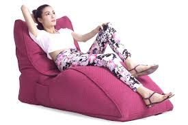 pink home theatre chaise lounge bean bag daybed singapore