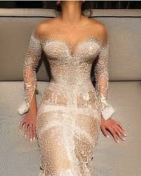 swarovski siege wedding dress j aton couture swarovski studded pearl sheath