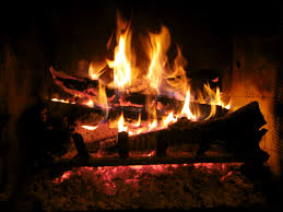 christmas fireplace burning with music design and ideas arafen