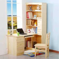 Corner Desk Solid Wood Xuan Wooden Bookcase Desktop Computer Desk Corner Desk Bookcase