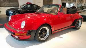 maroon porsche 1986 porsche 911 carrera m491 turbo look cabriolet stock 171103c