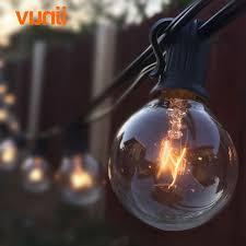 Clear Patio Lights Patio Lights G40 Globe String Light Warm White