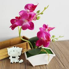 silk flowers orchid artificial flower butterfly orchid flowers real touch