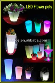 flower pot solar light outdoor led luminous planter pots solar power charging led lighted