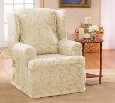sure fit scroll classic t cushion wingback slipcover u0026 reviews