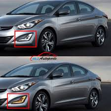 hyundai elantra daytime running lights led daytime running light fog l with turn sign white and yellow