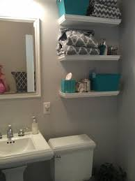 teal and grey bathroom