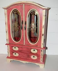 Shabby Chic Jewelry Display by 64 Best Painted Vintage Jewelry Boxes Images On Pinterest
