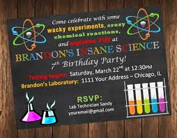 graphic design birthday invitations best collection of science birthday party invitations theruntime com