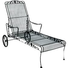 Wrought Iron Chaise Lounge Wrought Iron Chaise Lounge With Wheels Metal Chaise Lounge With