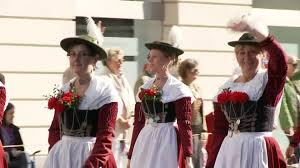 traditional costume parade oktoberfest munich hd stock video
