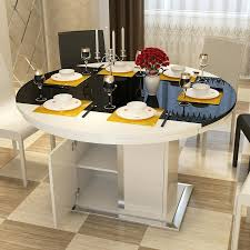 circular dining table 4 storage stools dining table leaf storage