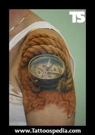 3d Compass Tattoos Amazing 3d Compass On Biceps For 2017 Tattoos Ideas