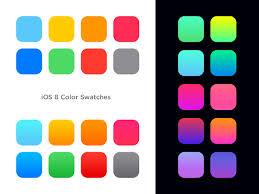 color swatches ios 8 color swatches gradients on behance