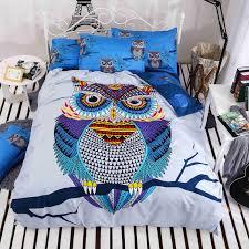 Cotton Bedding Sets 4 3pcs Cotton Bedding Owl S Boys Owl Bedding Set 3d Bed