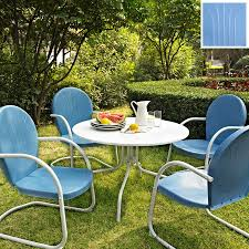 Patio Dining Furniture Sets - shop crosley furniture griffith 5 piece sky blue steel patio
