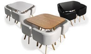 table avec chaise encastrable table et chaises encastrables groupon shopping