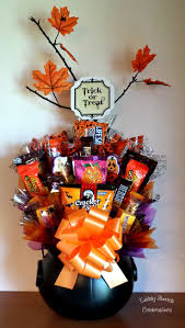 candy bouquet halloween candy cauldron basket celebrate