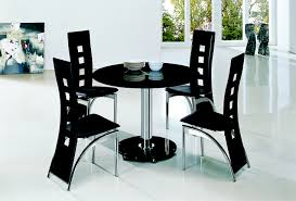 Black Glass Dining Table And 4 Chairs Dining Table W097 A5 20mb Glass Dining Table 6 Person