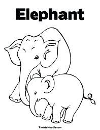 elephant love coloring page coloring pages of elephants coloring page elephant cute elephant