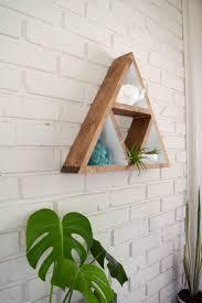 triangle shelf wood floating shelf triangle shelves