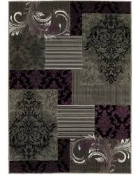 Purple And Black Area Rugs Deal Alert Lyke Home Purple Grey Olefin Machine Made Area Rug 8