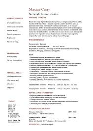 Maintenance Job Resume by Network Administrator Resume It Example Sample Cisco Routers