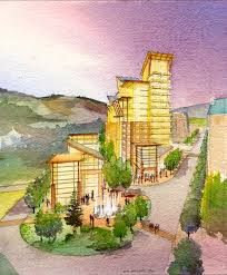 watercolor residential architectural rendering architectural