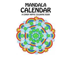 mandala calendar coloring book printable multi