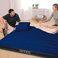 intex classic downy airbed set with 2 pillows and double quick