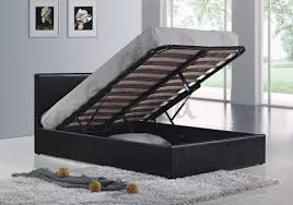 berlin ottoman black open small double storage beds with free
