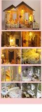 miniature house model diy kit with light and music nice home dream