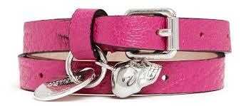 pink leather bracelet images Alexander mcqueen skull charm double wrap leather bracelet where jpg