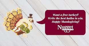 turkey day haiku contest nugget markets daily dish