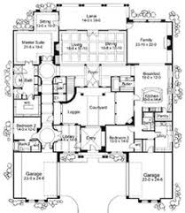 style home plans with courtyard hacienda style homes hacienda floor plans unique house
