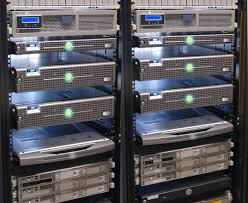 data center servers frontview s google servers in complete darkness