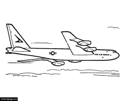air force military plane coloring printable kids