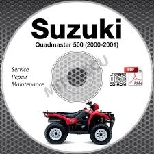 2000 2001 suzuki lt a500f quadmaster 500 service manual cd rom