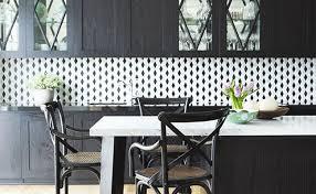 White Kitchen Backsplash Tiles Black Gray And White Amazing Black And White Kitchen Backsplash