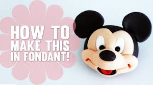 model face mickey mouse cake decorating tutorial