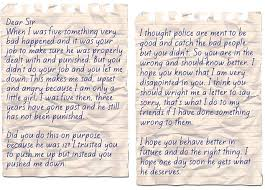 the letter from a five year old victim that shames every