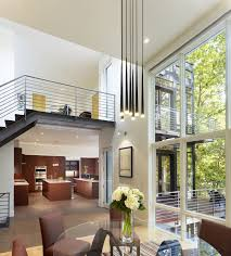 living room gray sofa white chandeliers brown wooden floor