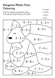 maths sheets for year 1 kangaroo math facts color pages math facts