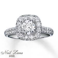 kay jewelers engagement rings kay neil lane bridal ring 1 1 2 ct tw diamonds 14k white gold