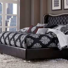 Bedroom Sets King Size Bed Romantic Swank Bedroom Set With King Size Wooden Bed