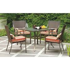 5 patio set mainstays alexandra square 5 patio dining set stripe